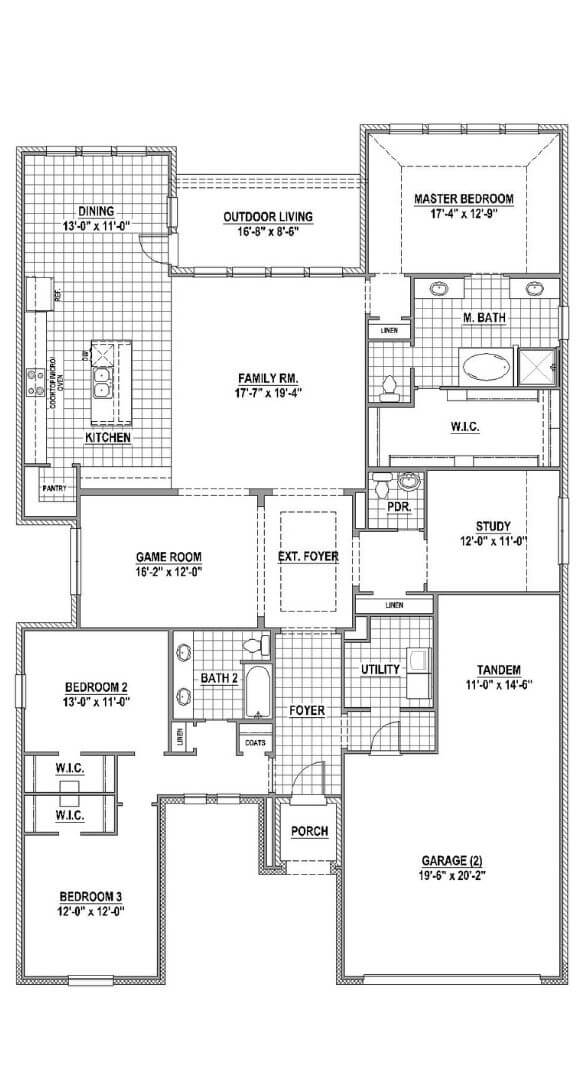 American Legend Plan 1690 Floorplan in Canyon Falls
