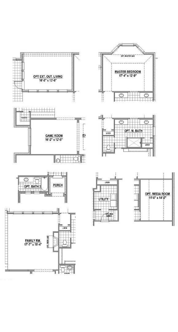 American Legend Plan 1690 Floorplan Options in Canyon Falls