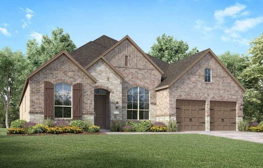 Highland Homes Plan 213 Elevation A in Canyon Falls
