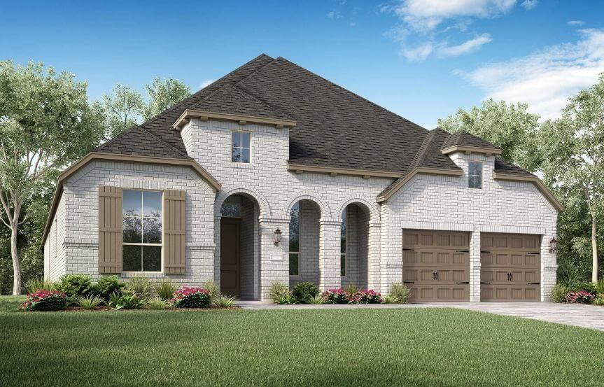Highland Homes Plan 213 Elevation B in Canyon Falls