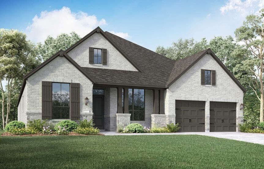 Highland Homes Plan 213 Elevation C in Canyon Falls