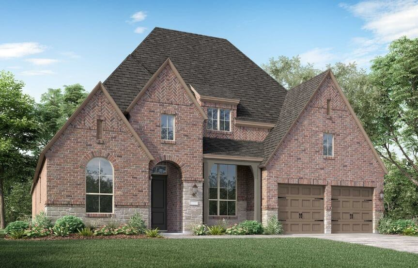 Highland Homes Plan 213 Elevation D in Canyon Falls