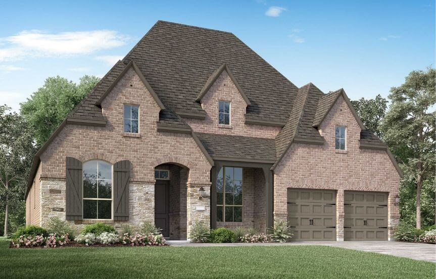 Highland Homes Plan 213 Elevation E in Canyon Falls