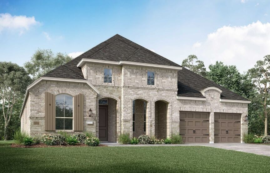 Highland Homes Plan 213 Elevation L in Canyon Falls