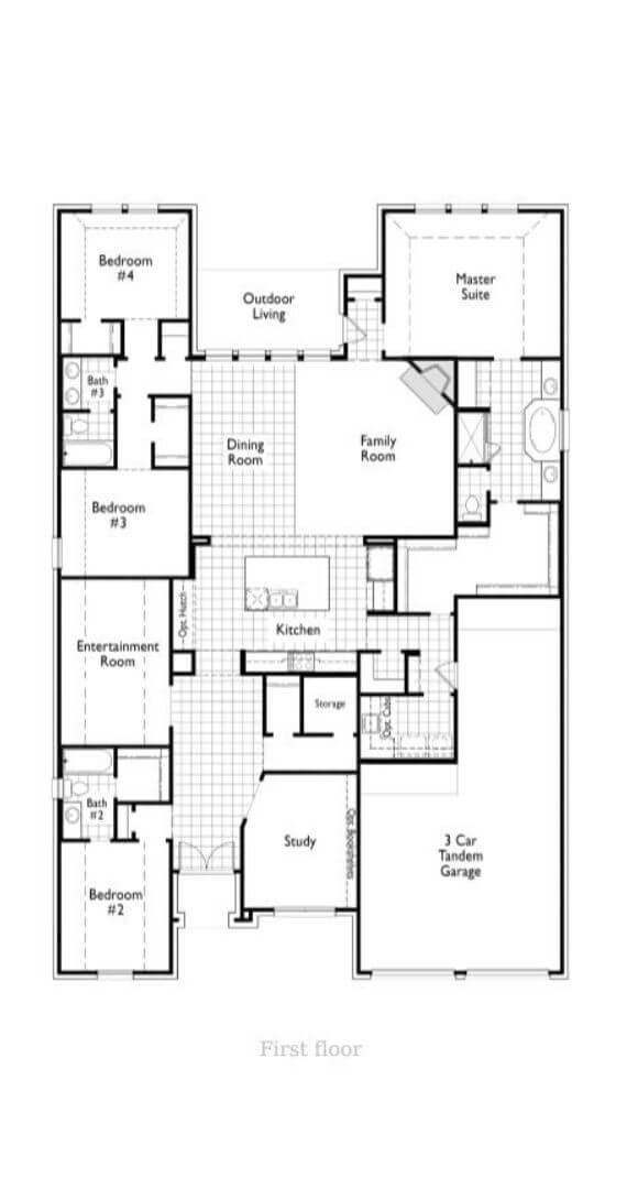 Highland Homes Plan 213 Floorplan in Canyon Falls