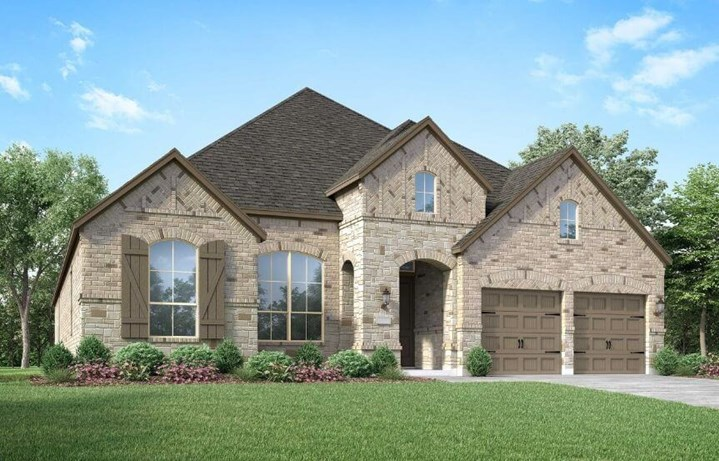 Highland Homes Plan 214 Elevation A in Canyon Falls