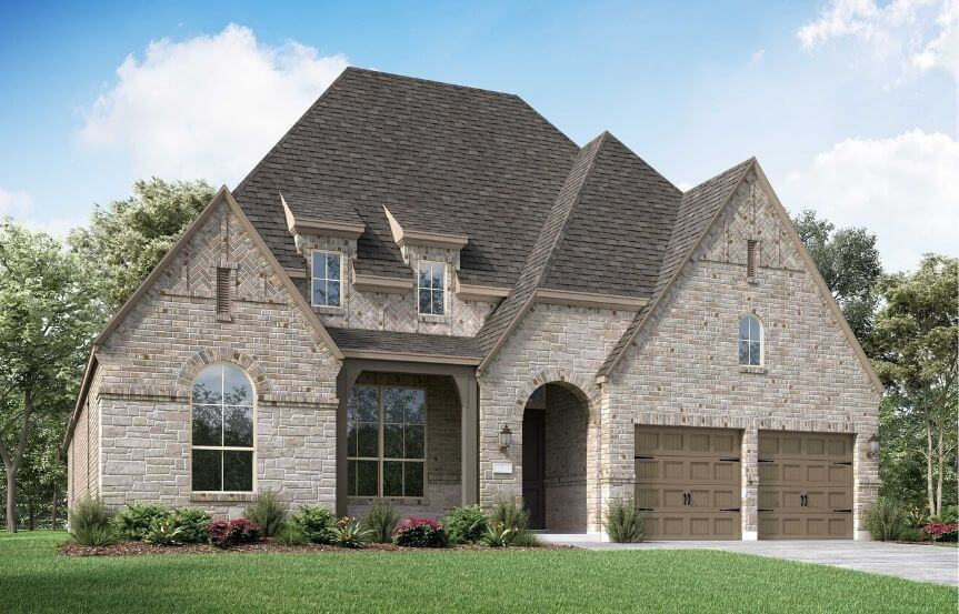Highland Homes Plan 214 Elevation D in Canyon Falls