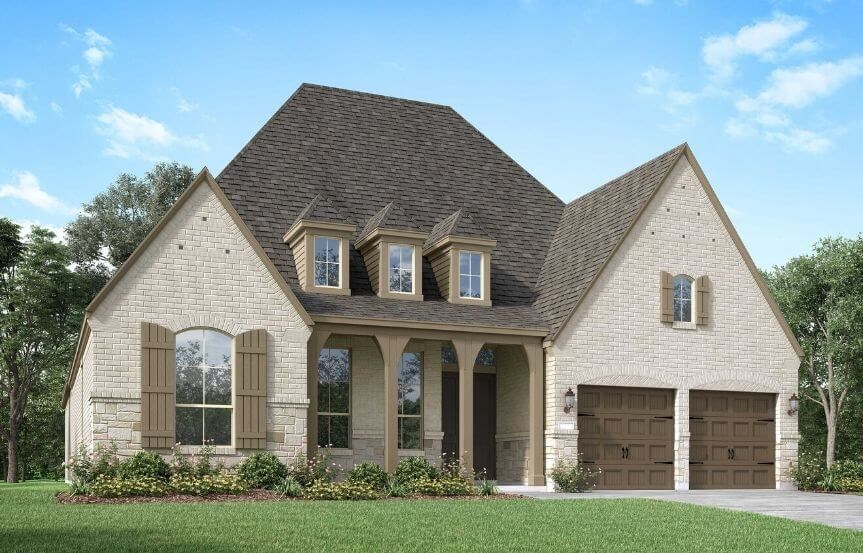 Highland Homes Plan 214 Elevation E in Canyon Falls