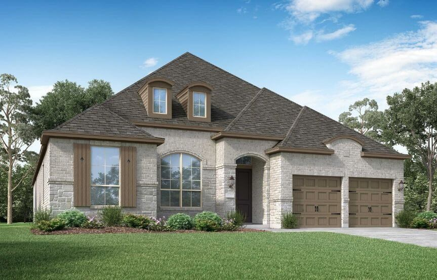 Highland Homes Plan 214 Elevation L in Canyon Falls