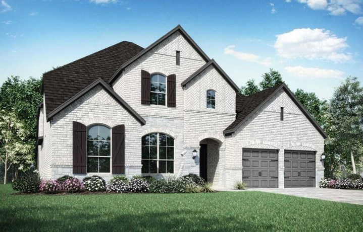 Highland Homes Plan 222 Elevation A in Canyon Falls