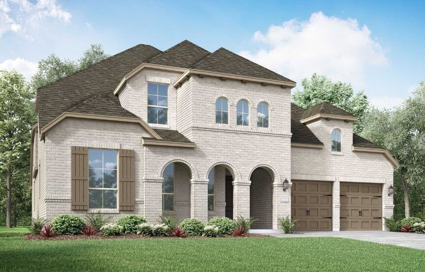Highland Homes Plan 222 Elevation B in Canyon Falls