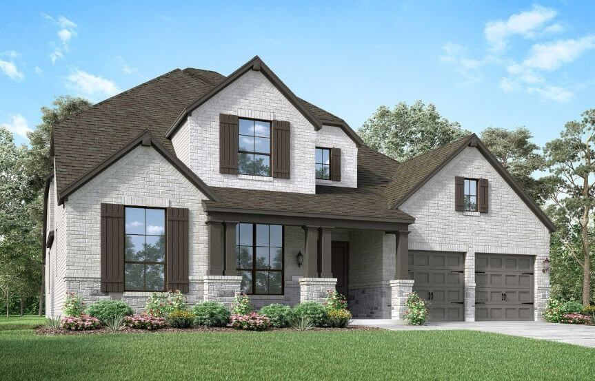 Highland Homes Plan 222 Elevation C in Canyon Falls