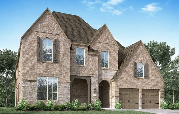 Highland Homes Plan 224 Elevation D in Canyon Falls