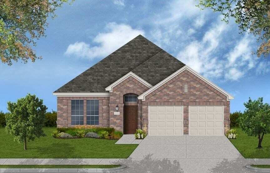 Coventry Homes Plan 2033 Elevation A in Canyon Falls