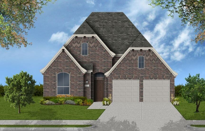 Coventry Homes Plan 2033 Elevation D in Canyon Falls