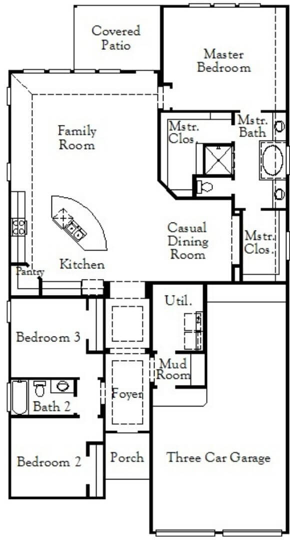 Coventry Homes Plan 2033 Floorplan in Canyon Falls