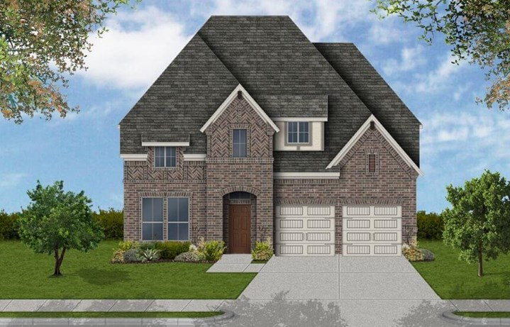 Coventry Homes Plan 3034 Elevation D in Canyon Falls