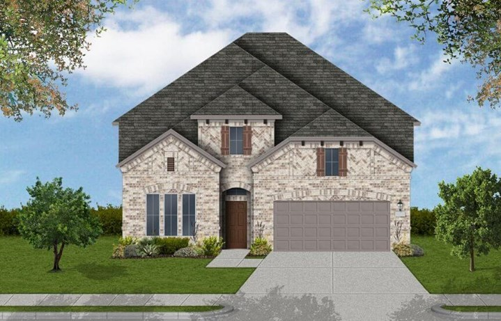 Coventry Homes Plan 3034 Elevation A in Canyon Falls