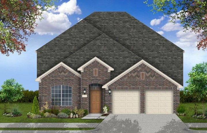 Coventry Homes Plan 2562 Elevation A in Canyon Falls