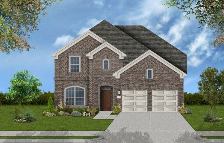 Coventry Homes Plan 2930 Elevation A in Canyon Falls