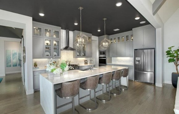 Drees Homes Model Kitchen in Canyon Falls