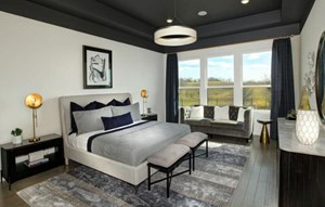 Drees Homes Model Owner's Suite in Canyon Falls