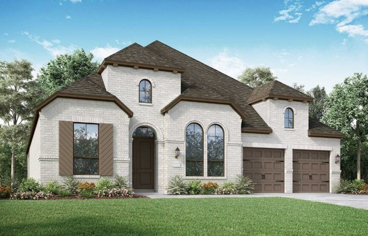 Highland Homes Plan 217 Elevation B in Canyon Falls