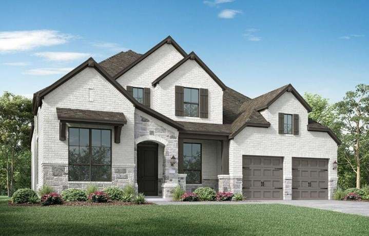 Highland Homes Plan 223 Elevation C in Canyon Falls