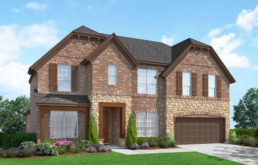 Landon Homes Plan 5002 Corringham Elevation A in Canyon Falls