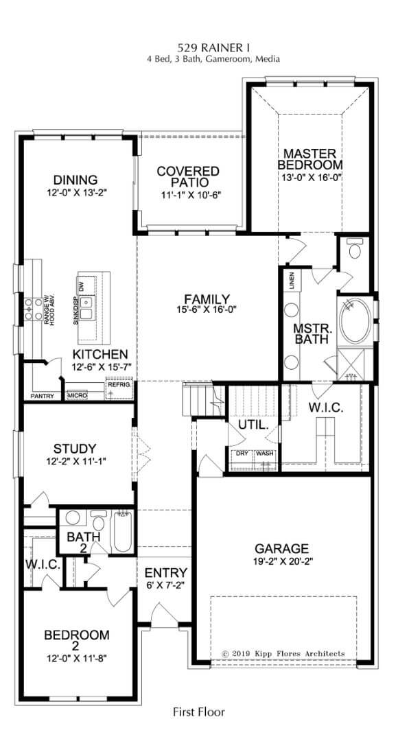 Landon Homes Plan 529 Rainer First Floor in Canyon Falls
