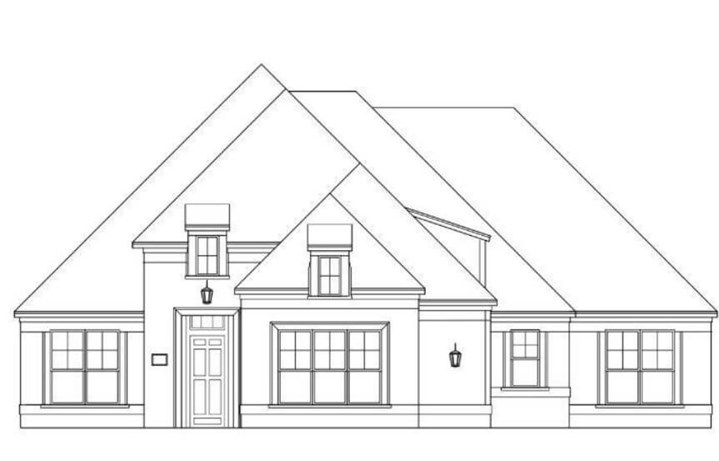 Windmiller Custom Homes plan Anderson Elevation in Canyon Falls
