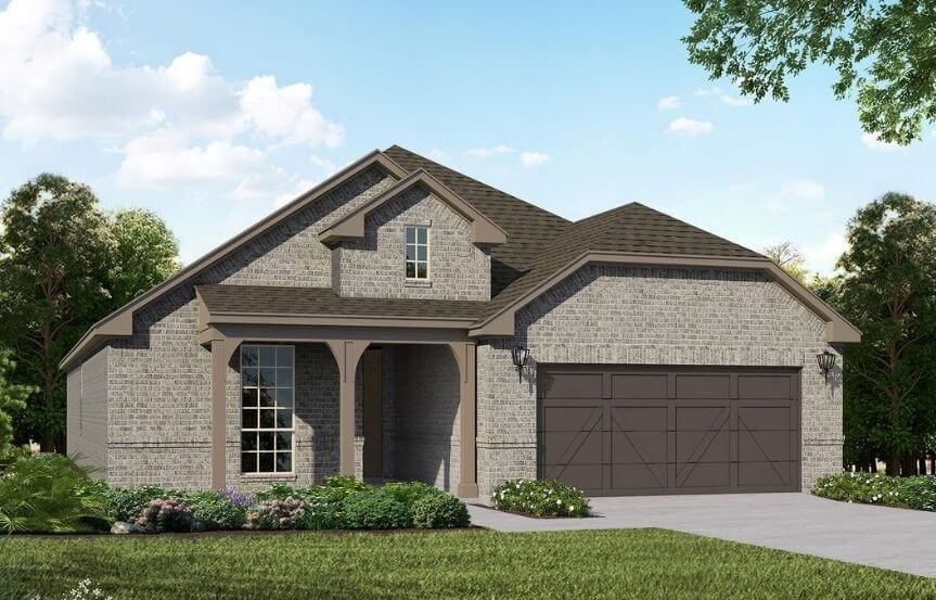 American Legend Homes Plan 1520 Elevation B in Canyon Falls