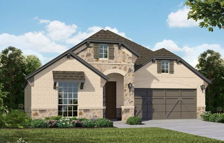 American Legend Homes Plan 1522 Elevation A in Canyon Falls