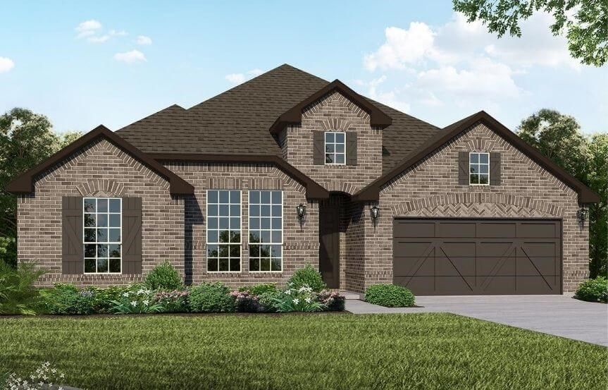 American Legend Homes Plan 1685 Elevation B in Canyon Falls