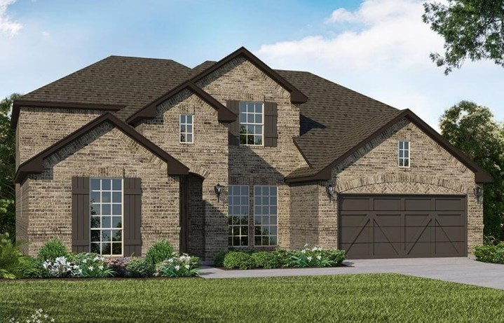 American Legend Homes Plan 1986 Elevation A in Canyon Falls