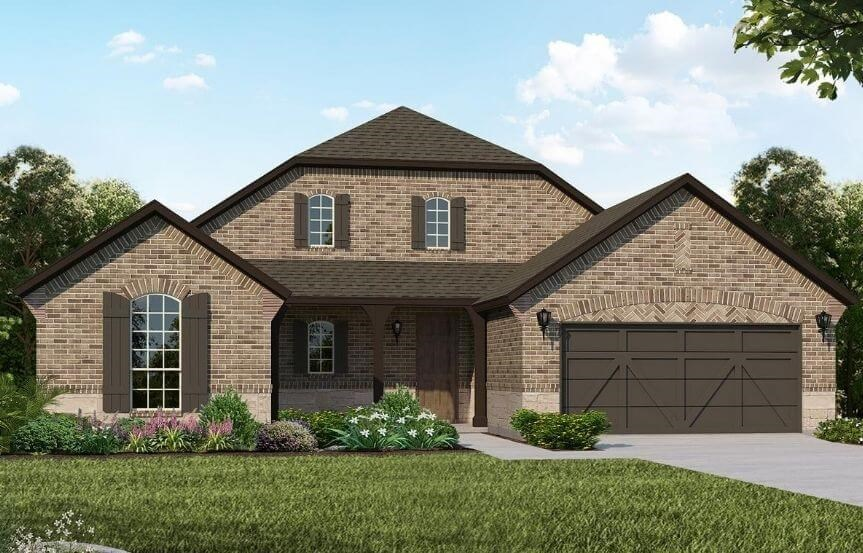 American Legend Homes Plan 1690 Elevation C in Canyon Falls