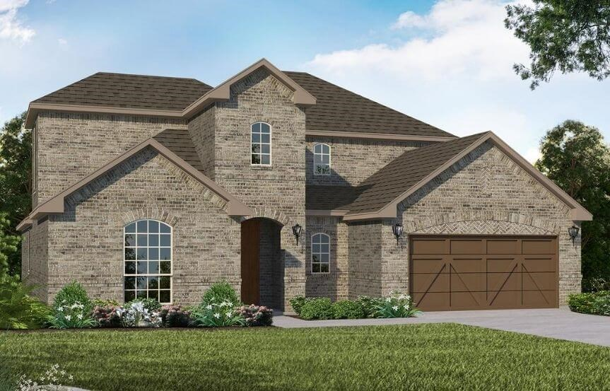 American Legend Homes Plan 1684 Elevation A in Canyon Falls