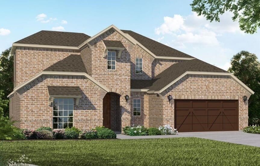 American Legend Homes Plan 1684 Elevation B in Canyon Falls