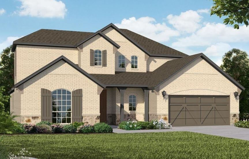 American Legend Homes Plan 1684 Elevation C in Canyon Falls