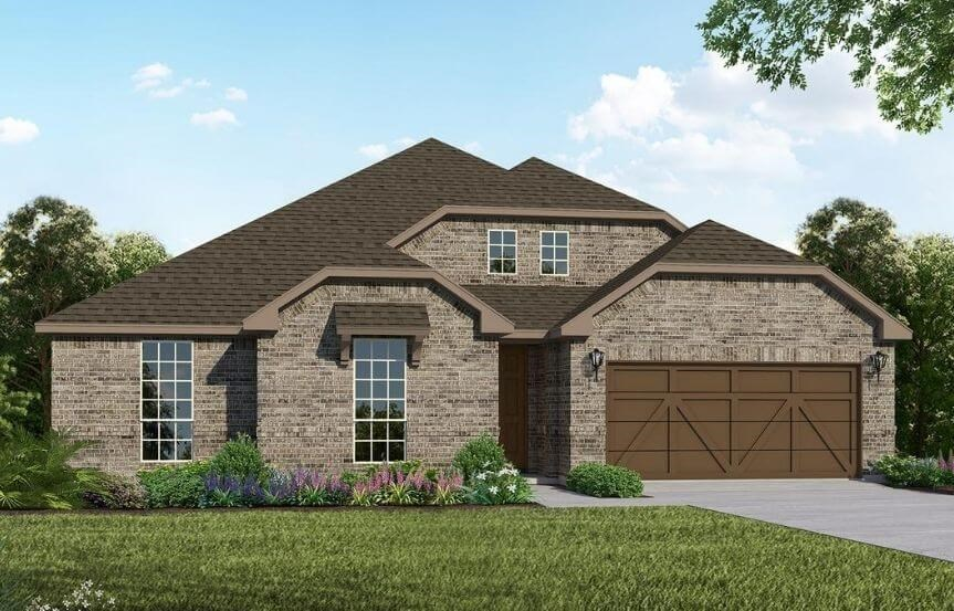 American Legend Homes Plan 1681 Elevation B in Canyon Falls