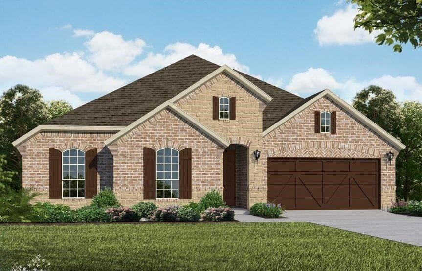American Legend Homes Plan 1681 Elevation C in Canyon Falls