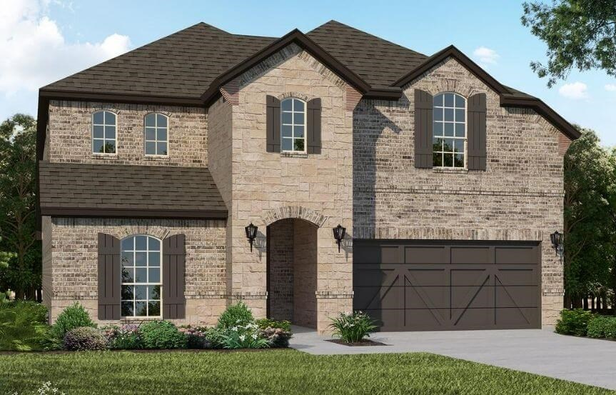 American Legend Homes Plan 1526 Elevation C in Canyon Falls