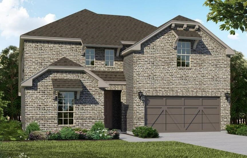 American Legend Homes Plan 1526 Elevation B in Canyon Falls