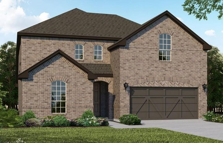 American Legend Homes Plan 1526 Elevation A in Canyon Falls