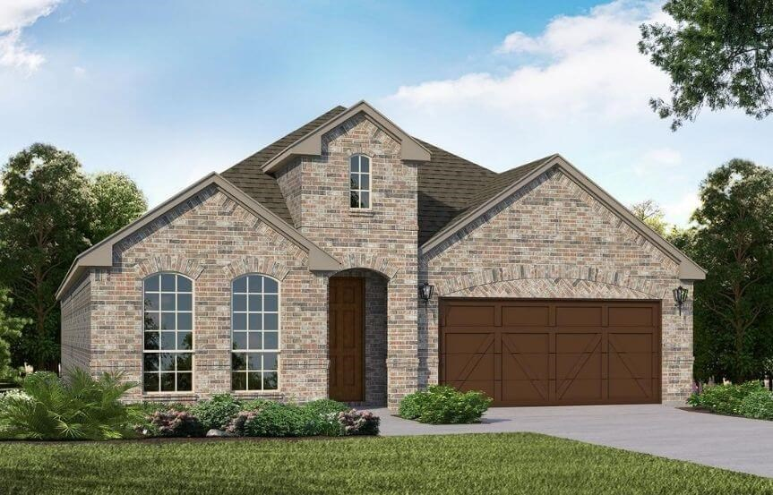 American Legend Homes Plan 1519 Elevation A in Canyon Falls