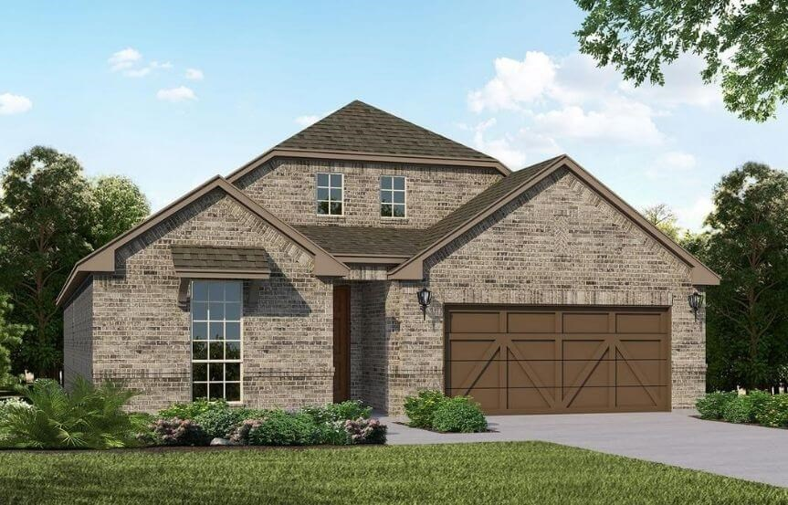 American Legend Homes Plan 1519 Elevation B in Canyon Falls