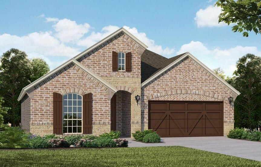 American Legend Homes Plan 1519 Elevation C in Canyon Falls