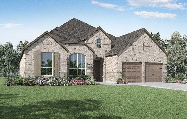 Highland Homes Plan 212 Elevation A in Canyon Falls