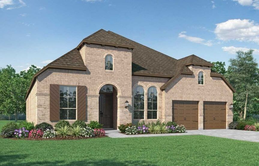 Highland Homes Plan 216 Elevation B in Canyon Falls