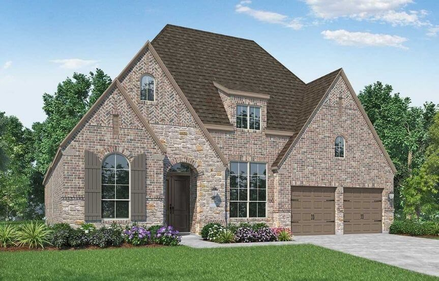 Highland Homes Plan 216 Elevation C in Canyon Falls